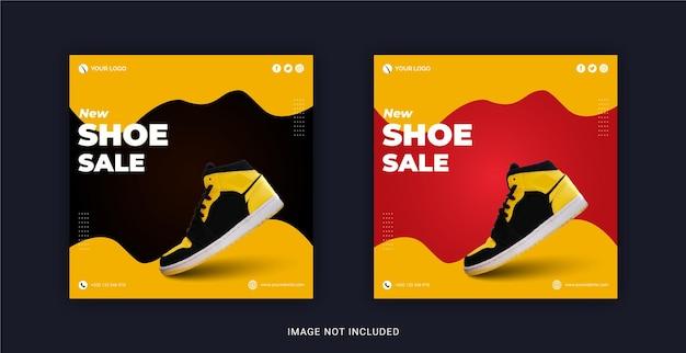 Nuovo modello di banner per social media post vendita di scarpe su instagram