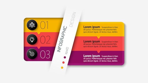 Il nuovo design della scatola quadrata divide le informazioni e le normative per fornire presentazioni il più possibile chiare e organizzate. infografica.