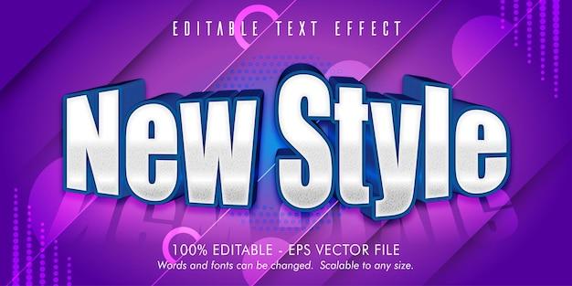 Nuovo effetto di testo modificabile sytle