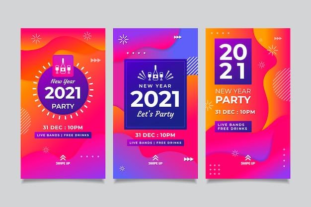 Raccolta di storie di instagram per feste di capodanno 2021