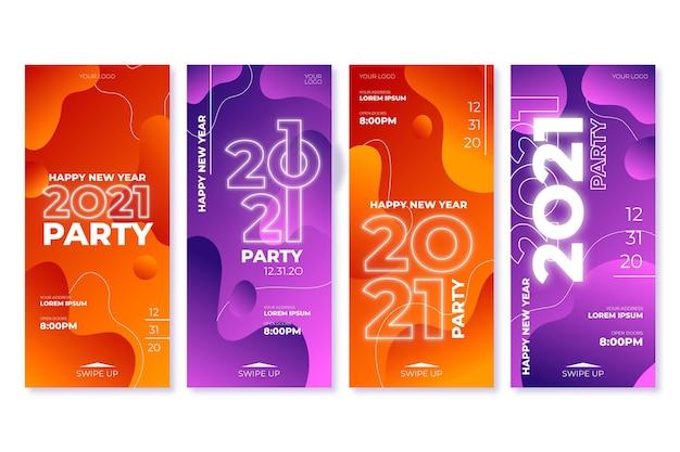 Raccolta di storie di instragram per feste di capodanno 2021