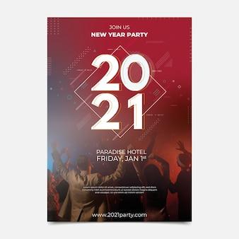 Modello di poster festa di capodanno 2021