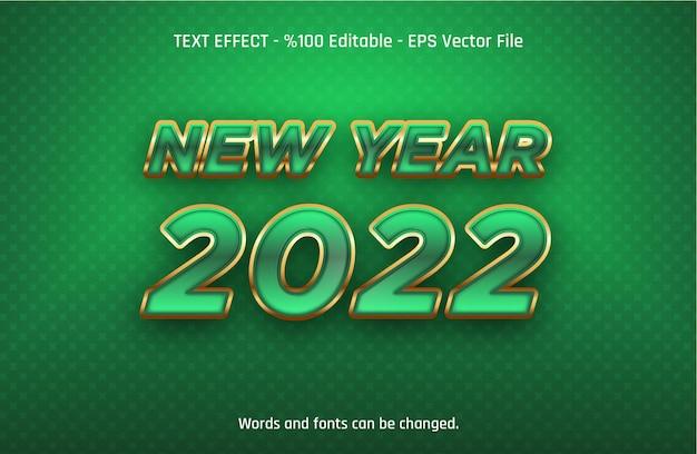 Effetto di testo modificabile capodanno 2022