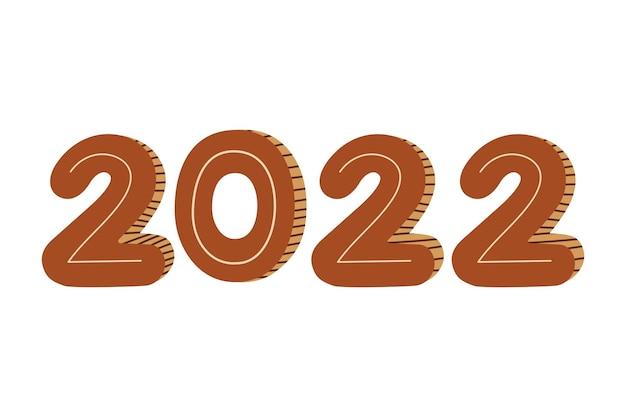 Illustrazione del nuovo anno 2022