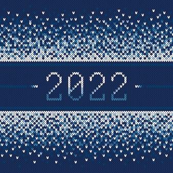 Modello lavorato a maglia senza cuciture per le vacanze invernali del nuovo anno 2022