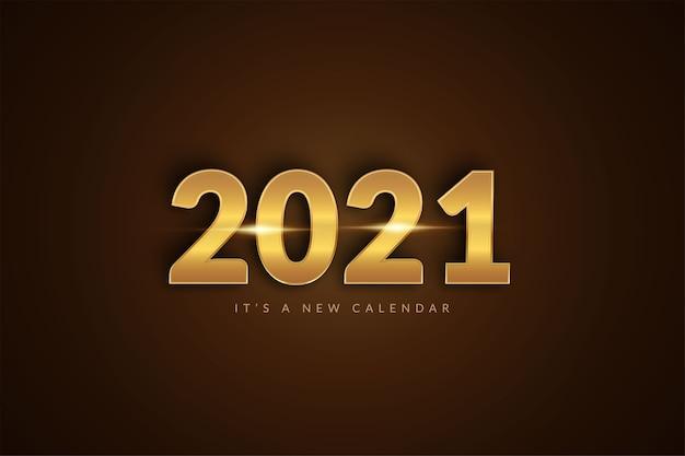 Calendario del nuovo anno, modello del fondo dell'illustrazione di celebrazione di festa