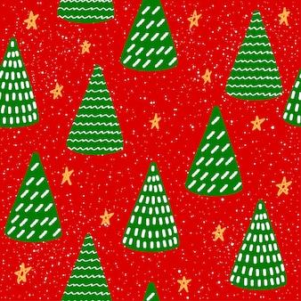 Carta da regalo per capodanno o natale o tessuto tessile swatchseamless pattern background