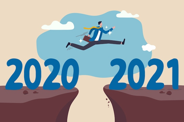 Speranza del nuovo anno per la ripresa aziendale