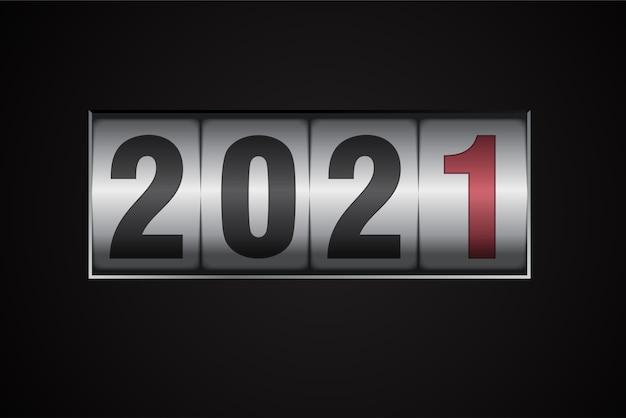 Numeri di commutazione del contatore meccanico del nuovo anno