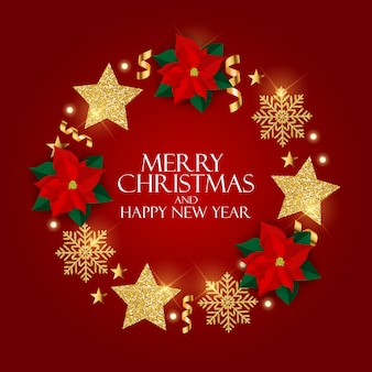 Anno nuovo e buon natale sfondo