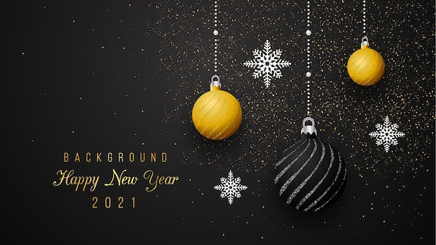 Capodanno sfondo colore nero stile minimal nero e oro coloreps.