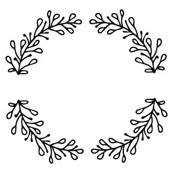 Cornice di rami di corona di capodanno. decorazione per natale.