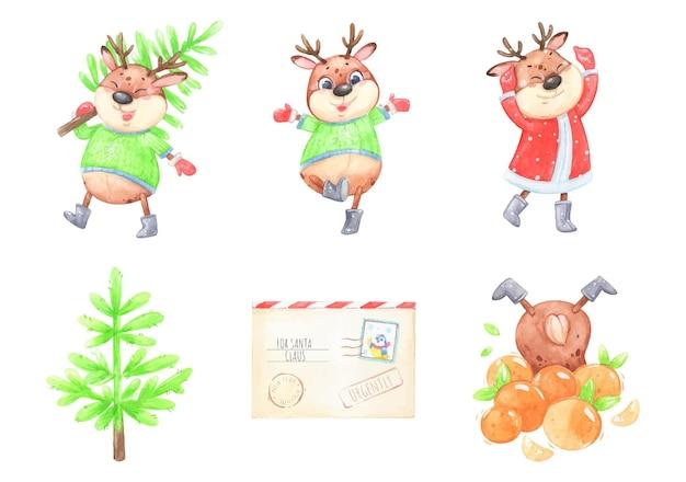 Set di adesivi di capodanno