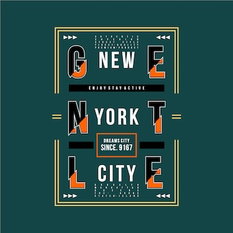 Maglietta del design grafico di new york city