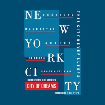 Linee tipografiche di new york city design tipografico astratto