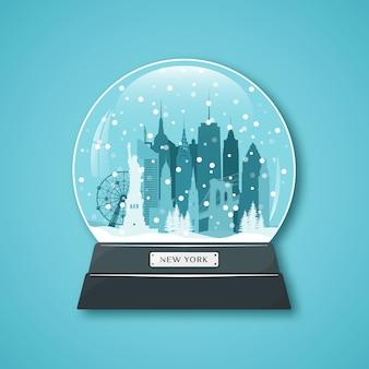 Globo di neve di new york city.