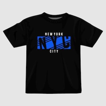 Disegno della maglietta vettoriale di new york city
