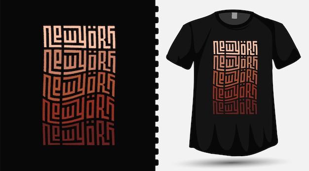 New york city con modello di progettazione di lettere tipografiche colorate alla moda per magliette stampate, abbigliamento alla moda e poster