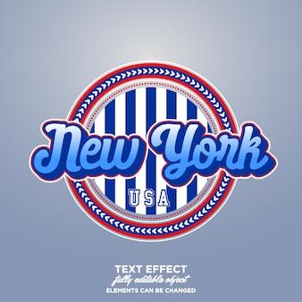 Distintivo lettering new york
