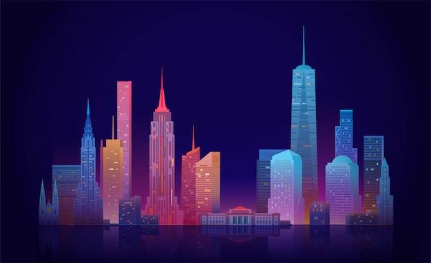 Illustrazione dell'orizzonte di new york