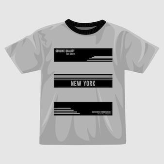 Disegno della maglietta vettoriale a righe di new york