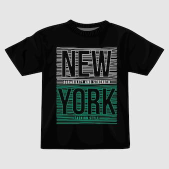 Disegno della maglietta di new york