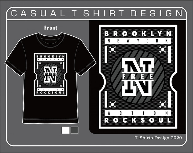 New york tipografia t-shirt design illustrazione vettoriale