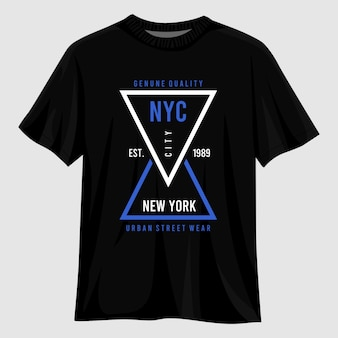 Design della maglietta tipografia di new york