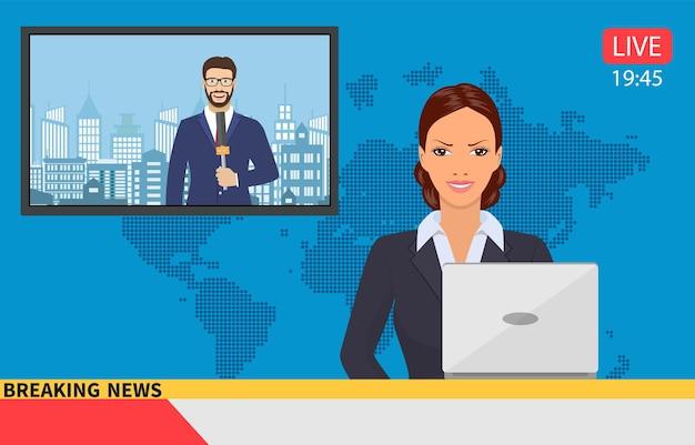 Trasmissione di notizie con ancoraggio