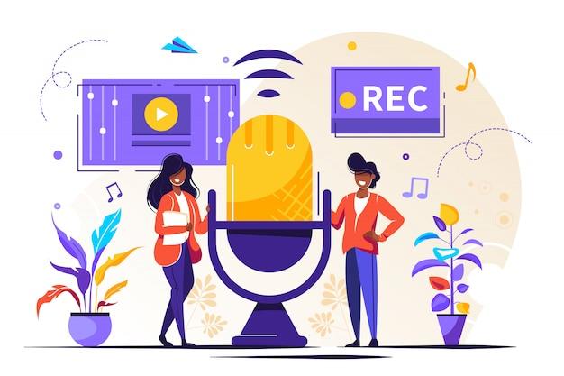 Notizie, interviste, musica, doppiaggio, registrazione del suono