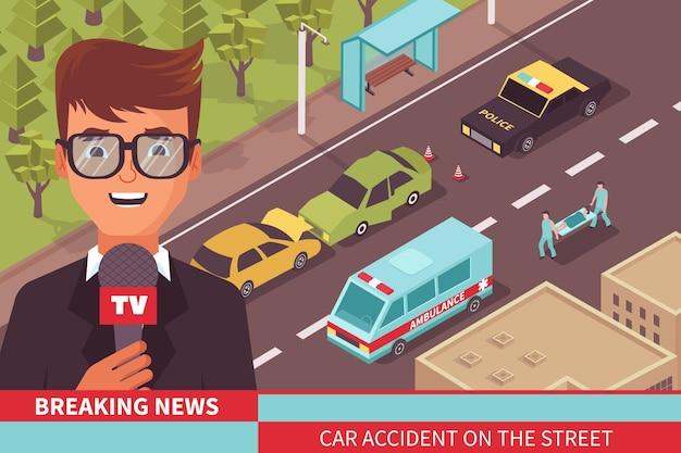 Illustrazione del reportage di notizie