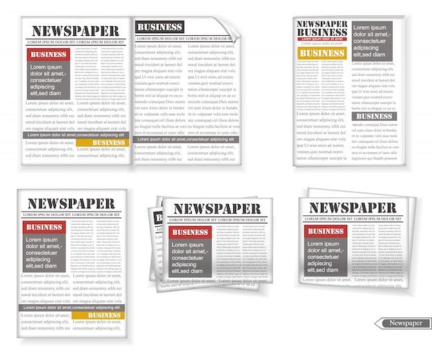 Raccolta di giornali Vettore Premium