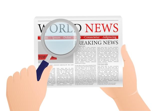 Giornale vuoto per il design di stampa. sfondo bianco. illustrazione vettoriale.