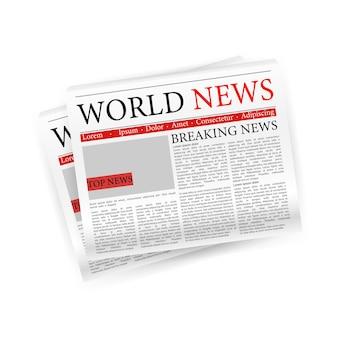 Giornale, ottimo design per qualsiasi scopo. layout di stampa editoriale vettoriale.