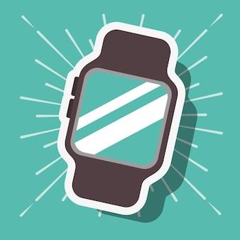 Sfondo blu orologio da polso tecnologia di pagamento nfc
