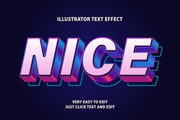 Piacevole effetto di testo futuro 3d, testo modificabile
