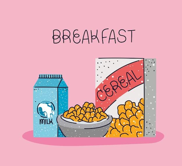 Bella carta per la colazione