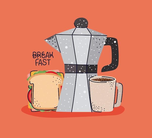 Bella illustrazione per la colazione