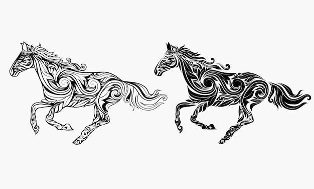 Bella decorazione floreale dell'ornamento del cavallo.