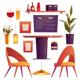 Bella collezione di mobili da ristorante