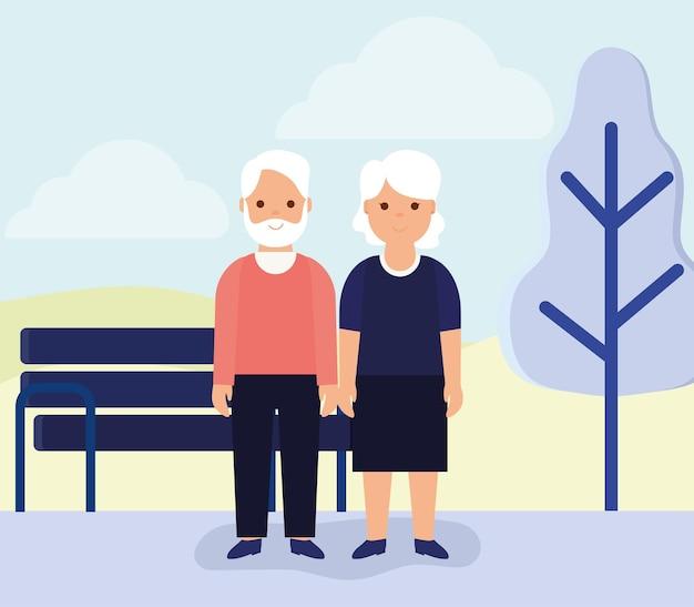 Bel poster di pensionamento con oggetti