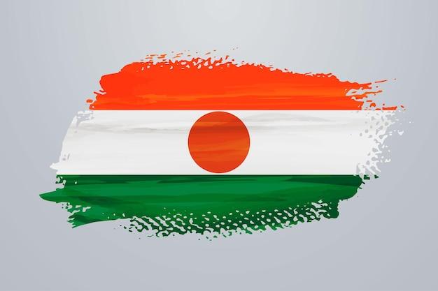 Bandiera della vernice del pennello del niger