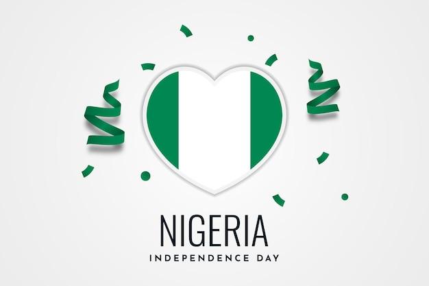 Disegno del modello di sfondo celebrazione festa dell'indipendenza della nigeria