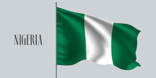 Nigeria sventolando bandiera