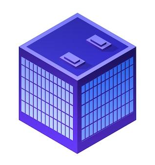 Architettura residenziale del grattacielo dell'appartamento della costruzione della città di notte