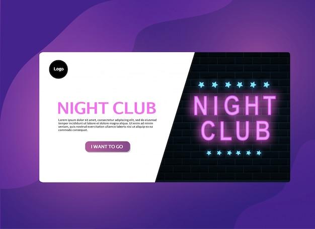 Banner per night club a colori al neon.