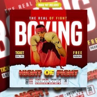 Post sui social media di night of fight boxing