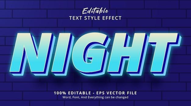 Effetto testo aura di colore blu neon notturno, effetto testo modificabile