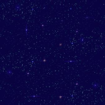 Fondo senza cuciture del cielo stellato notturno. piccola stella distante brilla sul cielo scuro