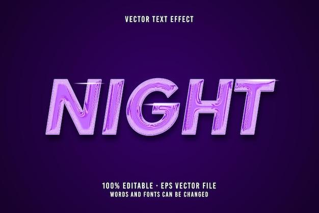 Effetto carattere modificabile per il testo notturno
